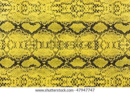yellow snake leather background - stock photo