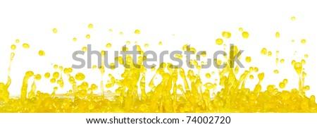 Yellow splash - stock photo
