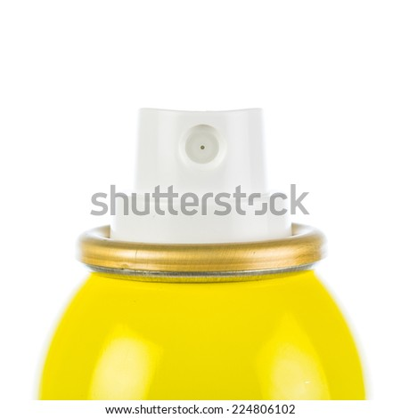 Yellow spray can head isolated - stock photo