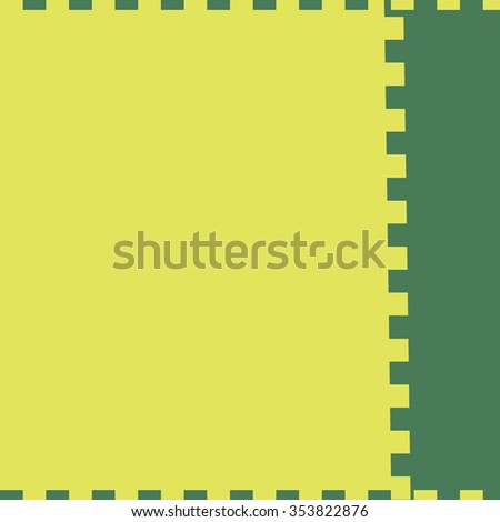 yellow square green rectangle
