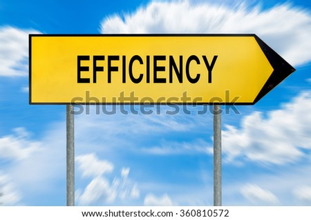 Yellow street concept efficiency lost sign