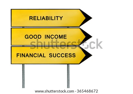 Yellow street concept financial sign - stock photo