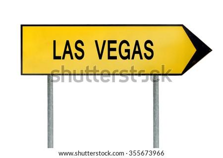 Yellow street concept sign Las Vegas isolated on white - stock photo