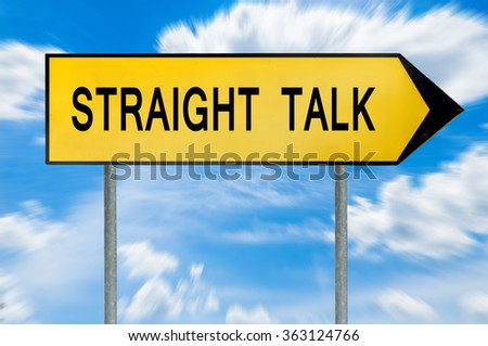 Yellow street concept straight talk sign