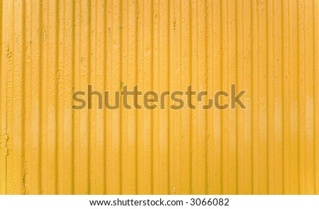 yellow striped steel background.