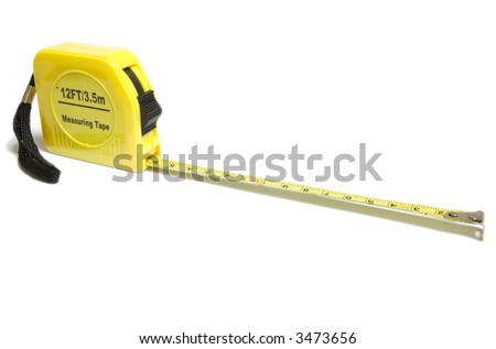 Yellow Tape Measure... - stock photo