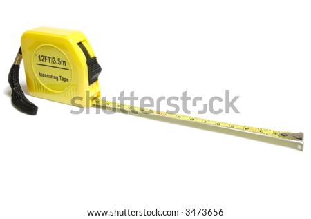 Yellow Tape Measure... - stock photo