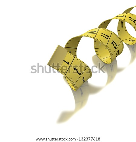 Yellow Tape Measure Inches Centimeters On Stock Illustration