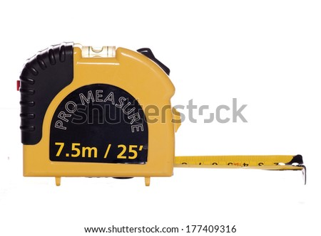 yellow tape measure studio cutout