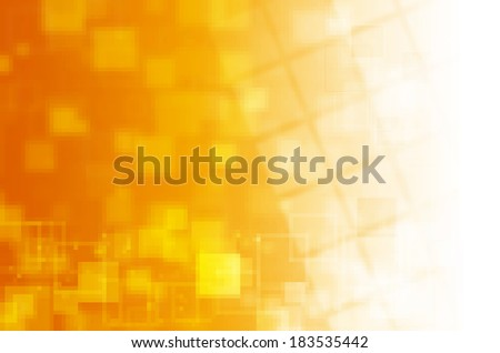 yellow tech abstract background  - stock photo
