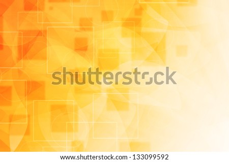 yellow technology background with curves lines - stock photo