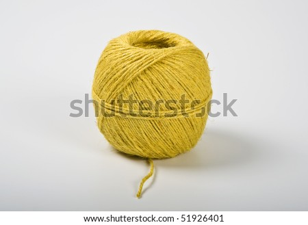 yellow thread - stock photo