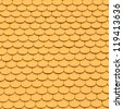 Yellow tiles roof, architecture background. - stock photo