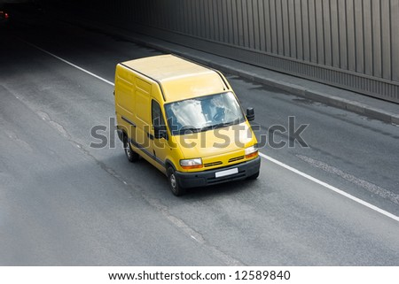 "yellow van  - See similar images of this ""Business vehicles"" series in my portfolio - stock photo"