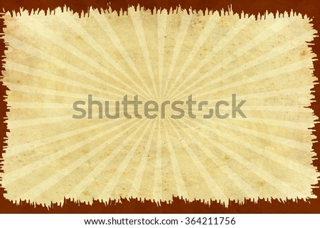 Yellow vintage background with red frame