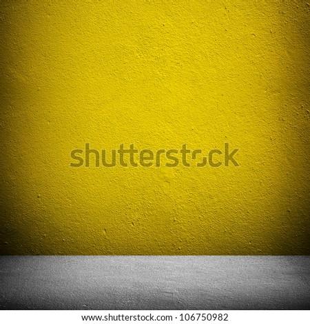 yellow wall - stock photo