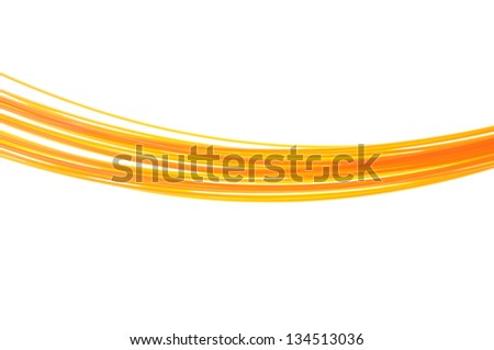 Yellow wires isolated on white background