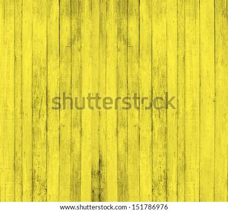Yellow wood background - stock photo