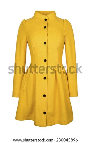 yellow woolen coat