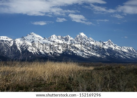 yellowstone and grand teton national park Wyoming USA  - stock photo