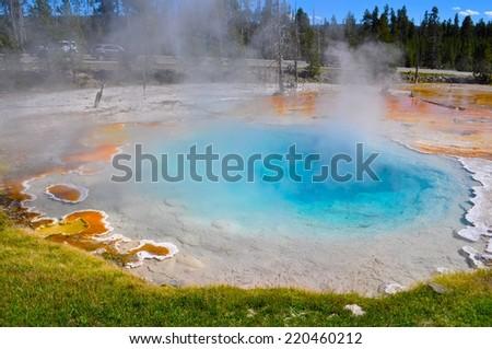 Yellowstone Geysers - stock photo