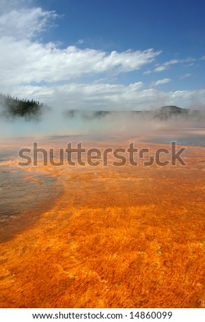 Yellowstone Grand Prismatic Spring - stock photo