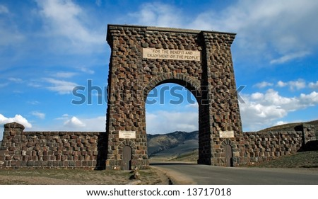 Yellowstone National Park Entrance - stock photo