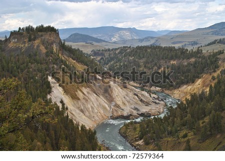 Yellowstone National Park in northwest Wyoming - stock photo