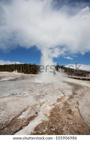 Yellowstone  National  Park,USA - stock photo