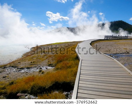 Yellowstone National Park, Wyoming, United States - stock photo