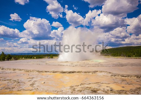Yellowstone National Park. Wyoming. USA. Geysers.