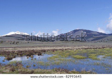 Yellowstone Reflections - stock photo
