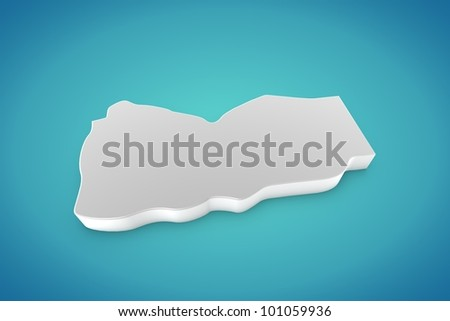 Yemen Map - stock photo