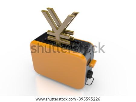 Yen-Toaster - stock photo