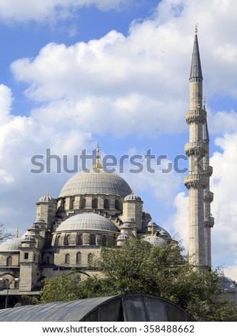 Yeni Cami ( New Mosque ) Istanbul, Turkey. - stock photo