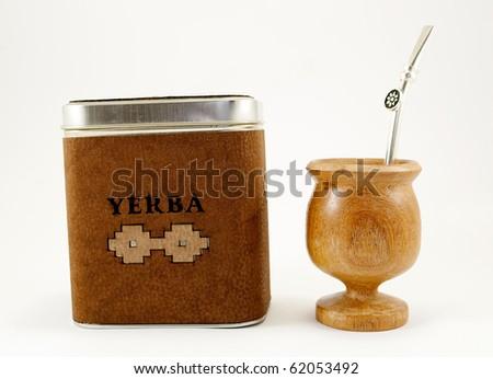yerba mate - stock photo