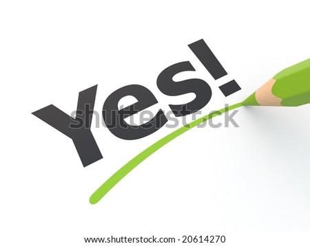 Yes! - stock photo