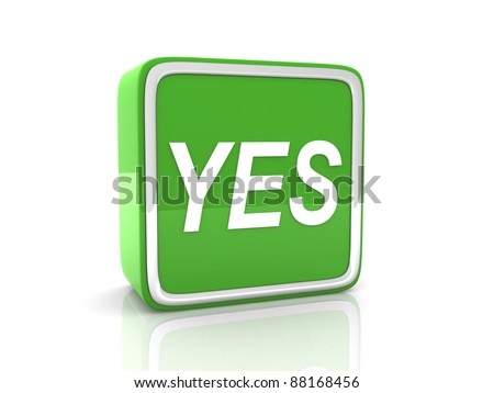 YES button green - stock photo