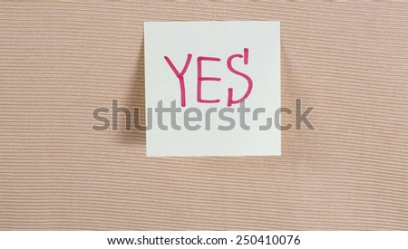 yes no - stock photo