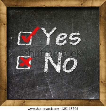 Yes no choice - stock photo