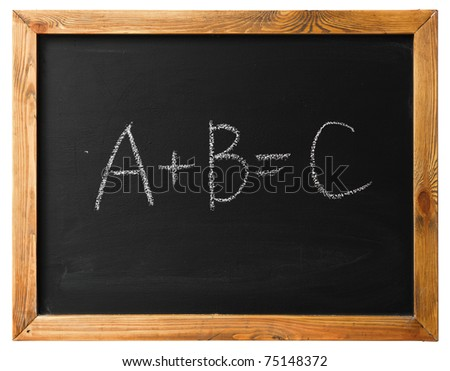 Yes Or No on black chalk board isolated on white - stock photo