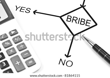 Yes or No to choose Bribe - stock photo