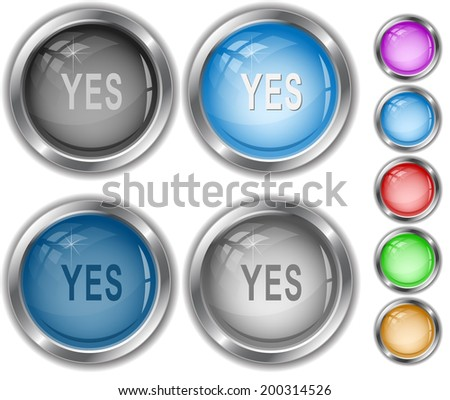 Yes. Raster internet buttons.  - stock photo