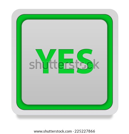 yes square icon on white background