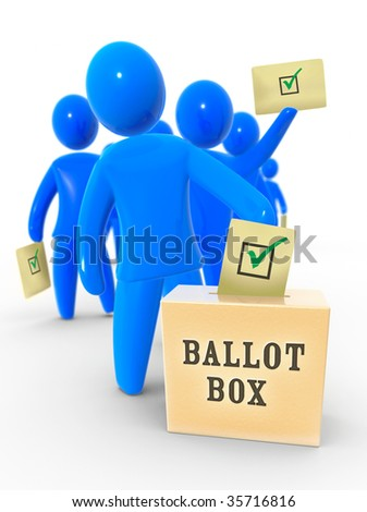 Yes vote - stock photo