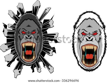 Yeti bigfoot gorilla mascot sports logo - stock photo