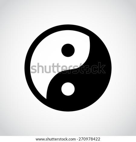 Yin and yang icon isolated on white background. - stock photo