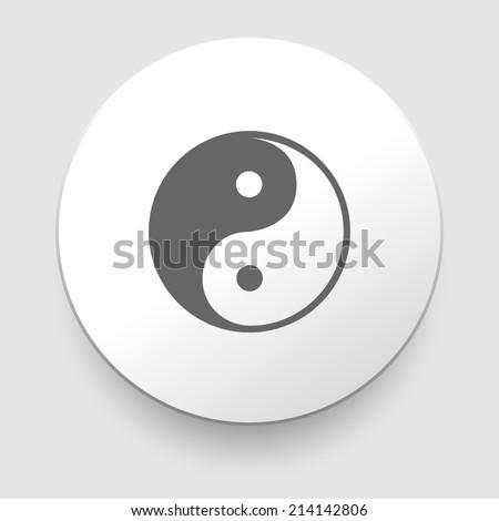 Yin and Yang symbol on white background. illustration - stock photo