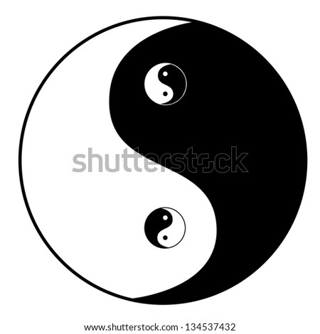 Yin yang symbol - stock photo