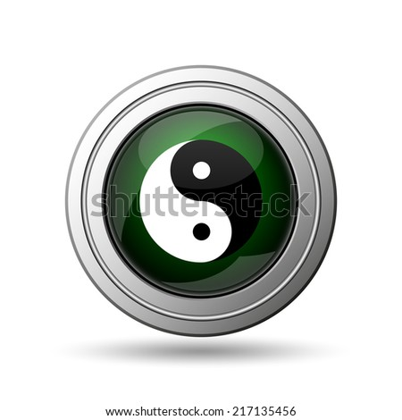 Ying yang icon. Internet button on white background.